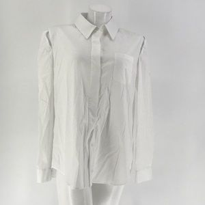 MILLY TOP SHIRT BLOUSE Long Sleeve White Size 12